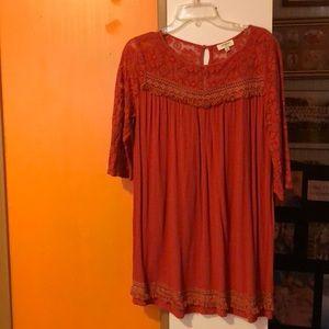 Umgee orange dress